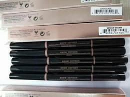 2019 pomada de chocolate caliente 2017 CALIENTE ceja del maquillaje potenciadores de maquillaje flaco lápiz de cejas de oro de doble punta con cepillo de cejas color 5 con el envío libre de DHL