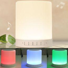 Altoparlante della lampada della luce del sensore di tocco online-Altoparlante Bluetooth Touch sensor smart multifunzione led luce notturna dimmerabile con altoparlante wireless bluetooth Lampada da comodino