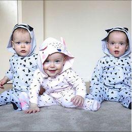 Wholesale Rompers Feet - INS CUTE Boys Girls Wrap Foot Baby onesies Clothing Newborn Footies Rompers Jumpers Toddler Hooded Jumpsuits Romper Infant Bodysuit Clothes