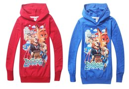 Wholesale Wholesale Sweater Hoodie - ZOOTOPIA children kids baby boys t shirts for hoodies sweatshirt outerwear fashion boys sweater 2-8 years