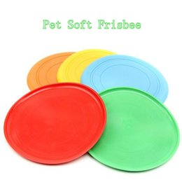 Wholesale Soft Flying Disc Dogs - 2016 Hot Sell Dog Toys 18cm Safe Funny Pet Toy Dog Flying Disc Soft Frisbee Toys for Dogs Free Shipping
