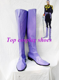 Wholesale Gundam Seed - Wholesale-Freeshipping custom-made anime Gundam Seed Cosplay Gihren Zabi Purple Cosplay Boots shoes for Halloween Christmas festival