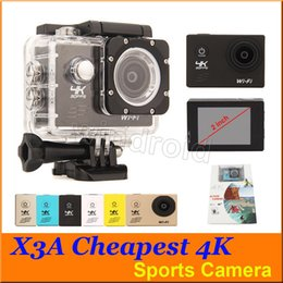 """Wholesale V3 Camera - Cheapest X3A V3 F60 4K 30fps Video 170 degree Wide Angle Sports Camera Waterproof 30m 2"""" LCD 1080p action Camera HDMI WIFI 50pcs"""