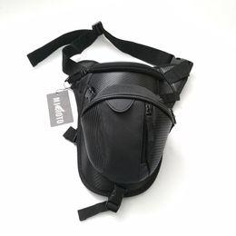 Wholesale Motorcycle Waist Belt - 2017 New brand Motorcycle Waterproof Nylon Drop Leg bag Pack Storage Waist Belt Bag waist Bag Travel Men Black