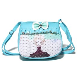 Wholesale Cell Phone Nails - Wholesale- 2016 New Style Every Nail Child Package Adjustable Shoulder Straps Leather Bag For Kindergarten Girls Fashion Casual Bagl
