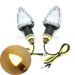 Wholesale Black Led Turn Signal Lights - 12V Black Motorcycle flasher Turn Signal , led motorbike Indicators Lights