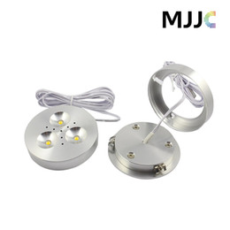 Wholesale Led Dimmable Light Switches - 12V DC 3W Dimmable LED Downlights Under Cabinet Light Puck Lights Ultra Bright Warm White,Natural White,Cool White for Kitchen Lighting