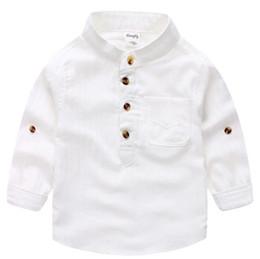 Argentina Camisa de rayas verticales blancas de desgaste causual guapo para niños pequeños Diseño de jersey de botones de cuello mandarín Suministro