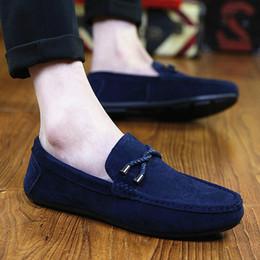 guida auto scarpa Sconti Vendita calda nuove scarpe da barca di moda da uomo Comfort nappa fodera Slip On Mens Driving Car Shoes