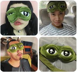 Wholesale Eye Cartoon Sleep Mask - 2016 Hot Sad Frog 3D Sleep Mask Anime Cartoon Pepe The Frog Eye Masks Funny Cosplay Costumes Accessories Novelty Gift