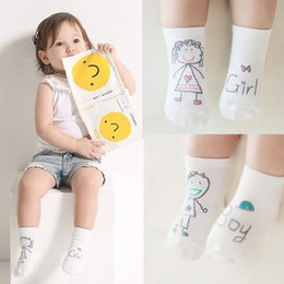 Wholesale Old Socks - High quality 0-4 years old baby boy socks wholesale anti slip baby girl socks BOY GIRL YES NO design newborn infant cotton socks 2016 hot
