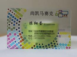 Wholesale Print Custom Cards - Custom matt finish Clear Transparent Plastic business Card printing