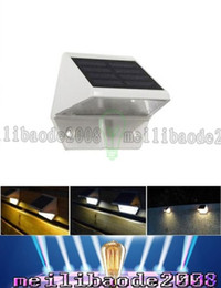 Wholesale Outdoor Solar Led Step Light - Outdoor Solar Powered LED Light Pathway Path Wall Step Stair Garden Lamp Light for outdoor lighting LLFA