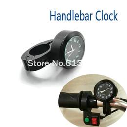 Wholesale Handlebars Clock - Black Motorcycle Watch Aluminum Clock Handlebar Motorcycle Accessory weatherproof shock resistant