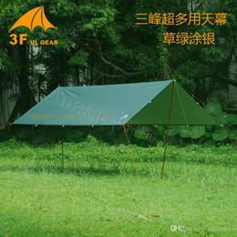 Wholesale Single Person Beach Tent - 2016 new arrival 3F ul Gear Silver Coating Anti UV Ultralight Sun Shelter Beach Tent Pergola Awning Canopy 210T Taffeta Tarp Camping Su