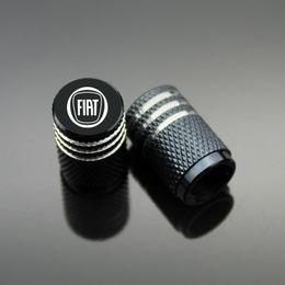 Wholesale Fiat Punto - Sport Styling Auto Accessories Car Wheel Tire Valve Caps Case For Fiat 500 Punto Freemont Bravo Albea ect. (4Piece set)