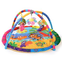 Wholesale Fitness Month - Wholesale- Monkey Crocodile Hippo Sun Soft Play bird mat Blanket Pad twin Fitness Frame Educational Baby Toys Climb Crawling Baby Gym
