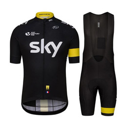 Wholesale Sky Tour France Jersey - 2016 Hot Sale Mens Womens Cycling Jersey sky Tour De France Short Sleeve Cycling Clothing Top Shirts cycling Bicycle Sportwear Jersey XS-4XL