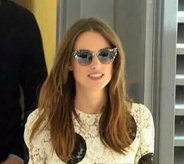Wholesale Transparent Polarized Glasses - Designer Women 0074 S Sunglasses Transparent Crystal Multicoloured   Black Lens Cat Eye Gafas De Sol 2016 Fashion Eyewear Brand New with Box