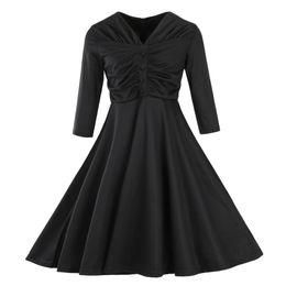 aedcdbb1dae6 Rabatt Vintage Plus Größe Büro Kleider   2019 Vintage Plus Größe ...