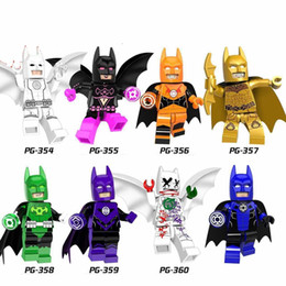 Wholesale Plastic Joker - Building Blocks Minifigures Action Bricks Super Heroes Bat Joker Kids Christmas Gift DIY Toys 8pcs set PG8076
