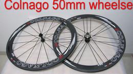 Wholesale Colnago Road Bicycle - COLNAGO EPS Carbon Wheels Clincher 50mm Bicycle Wheels 700c Carbon Fiber Road Bike Racing Wheelset matte