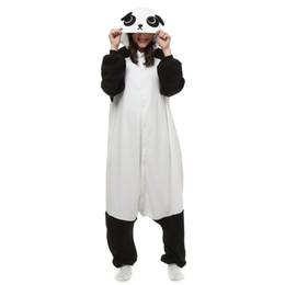 Wholesale Panda Halloween Costume - Japen Kigurumi Pajamas Adult Panda Sleepwear Cosplay Christmas Halloween Costume Gift Present Onesies Party Jumpsuit