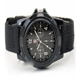 Wholesale Gemius Army Racing Sports Watch - Wholesale-Hot hothot Sales Fashion Gemius Army Racing Force Sport Men Officer Fabric Band Watch Free Shipping at3