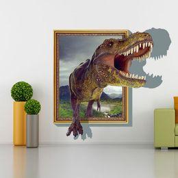Wholesale Folk Wallpaper - Wholesale-3D dinosaur photo wallpaper Great unique interior art deco bedroom children's room PAPEL de parede 3D Wallpaper