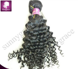Wholesale Tight Curly Natural Hair Weave - High quaility tight curly Peruvian human hair extensions natural color loose wave peruvian remy hair weft---sunnygrace