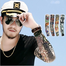 Wholesale Tattoo Sleeves Wear - tattoo sleeves arm wearmers cycling protective Cool Anti UV Arm Stockings Tattoo Wears Fishing Driving Sleeves KKA2240