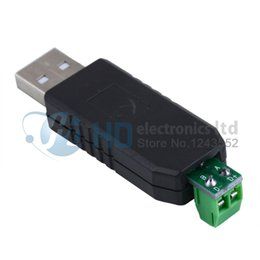 Wholesale Vista Adapter - Wholesale- Free Shipping USB to RS485 485 Converter Adapter Support Win7 XP Vista Linux Mac OS WinCE5.0