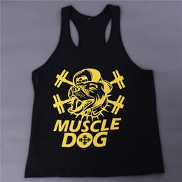 Wholesale Clothes Printing Equipment - Wholesale-Gym Singlets Men Tank Tops Shirt Bodybuilding Equipment Fitness Men's Gym Tank Top Black White Sports Clothes M-XXL DP869500