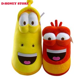 Wholesale Toys Sold Christmas - Top Selling Item Fun Insect Slug Creative Larva Plush Toys Stuffed Doll For Children 2pcs lot Christmas Gift