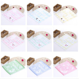 Wholesale Branded Handkerchiefs - Brand new Cotton small towel gauze puffs small square towel child handkerchief TL007 mix order as your needs