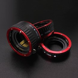Wholesale Extension Lens - Metal AF Auto Focus Automatic Macro Extension Tube Ring for Canon EF EF-S Lens