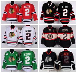 Ice Hockey 2 Chicago Blackhawks Duncan Keith Jerseys Stadium Series Winter  Classic Black Ice Skull Red White Green Purple discount blackhawks black  ice ... 2da35212c
