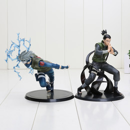 Wholesale Kakashi Hatake Action Figure - 2pcs set Japan Anime Naruto Nara Shikamaru + Hatake Kakashi figure PVC action figure toy packed in opp bag