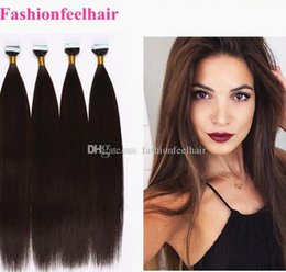"Wholesale Tape Weft Light Brown Extensions - New Arrival 18""-28'' Blonde Straight Hair 100% Brazilian Virgin Hair PU Skin Weft Tape Hair Extensions 3pcs lot Glue Skin Weft"