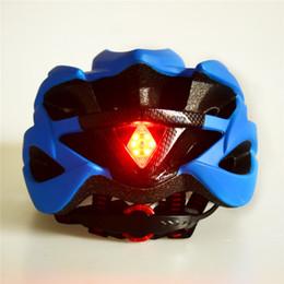 Wholesale Light Green Helmet - Ultralight Integrally Molded Helmet Bicycle Helmet Road Safety Warning Rear Light Cycling Helmet Bike Helmet Protective Gear 55-61cm 6Colors