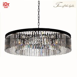 Wholesale European Light Switch - Round lamps High-end European-style chandelier K9 lights crystal chandelier Bedroom lamp Hall Luxury lamp quality guarantee