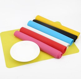 Wholesale Silicone Bakeware Heat - Silicone Mats Baking Liner Silicone Oven Mat Heat Insulation Pad Bakeware Kids Foods Mats Cooking tools Book Mat Placemat KKA2312