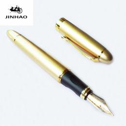 paralelos de escritorio Rebajas Al por mayor-JINHAO X450 pluma estilográfica hermoso negocio Medio Nib fuente bolígrafos oficina de la escuela de negocios pluma de la escritura