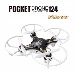Wholesale Quadcopter Video Camera - FQ777-124 RC Drone Mini Quadcopter Micro Pocket 4CH 6Axis Gyro Switchable Controller Helicopter Kids Toys VS JJRC H37 H31