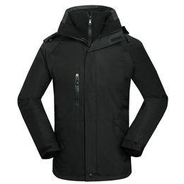 Wholesale Jackets Waterproof 2in1 - Wholesale-Men Outdoor Winter 2in1 Snowboarding Jacket Waterproof Hiking Hoodies Windbreaker Ski Coats Camp Hunting windproot Casual Wear