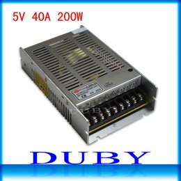Wholesale Model Ship Display - Wholesale-New model 5V 40A 200W Switching power supply Driver For LED Light Strip Display AC100-240V Factory Supplier Free shipping