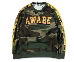 Wholesale Ribbon Belt Men - s Camouflage ribbon hedge Printed Tops Tees kanye yeezus Long-Sleeve aape Mens hoodies sweatshirt