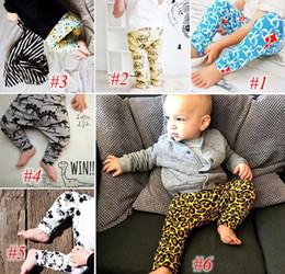 Wholesale Leggings Leopard Animal Print - xmas ins infant fox leopard pants boys girls dinosaur print pant Harem PP Pants Trousers Pants Shorts Leggings 6style choose free ship
