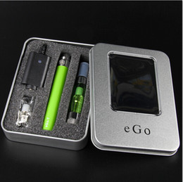 Wholesale Ego Aluminium Box - Ce4 Atomizer EGO-T battery Ego CE4 Electronic Cigarette kit in Aluminium Box Ce4 Clearomizer Colourful EGO battery gift box Fast UPS 0210001
