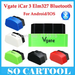 Wholesale Vgate Icar - Wholesale-5 Colors optional ! 2016 New Arrival Vgate iCar3 bluetooth vgate icar bluetooth scanner icar 3 elm327 For Android Free Shipping